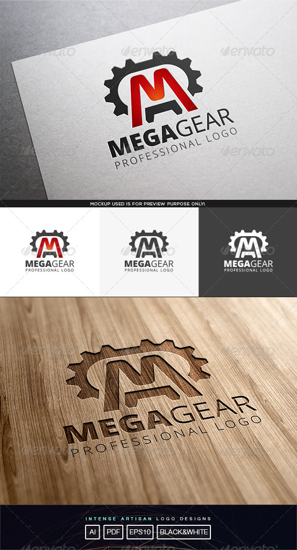 GraphicRiver Mega Gear Logo Template 8231432