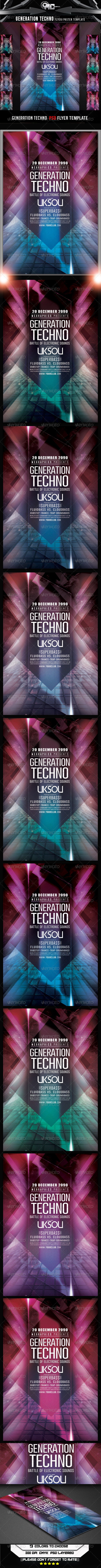 GraphicRiver Generation Techno Flyer Template 8231440