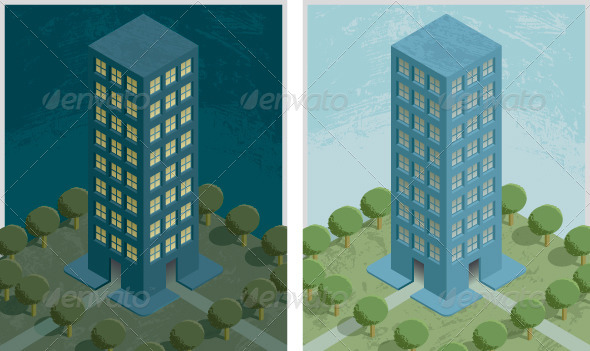 GraphicRiver Residential Building Night and Day 8231448