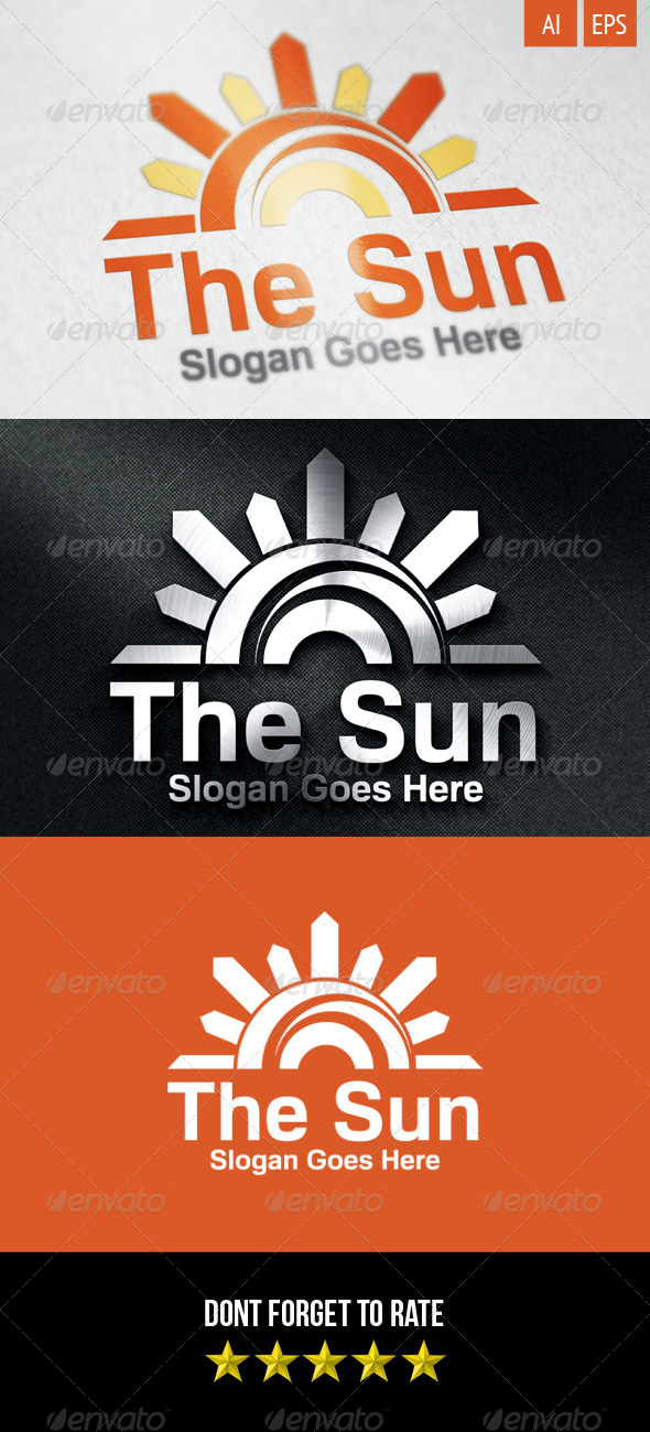 GraphicRiver The Sun Logo 8231520