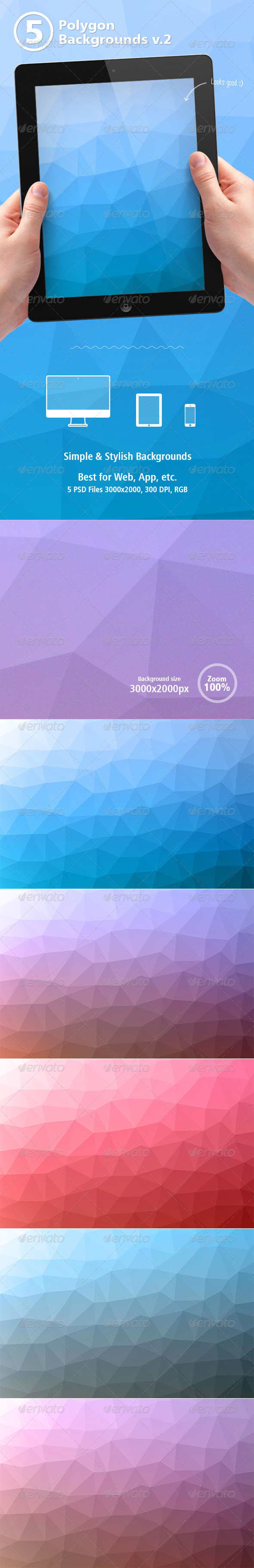 GraphicRiver Polygon Backgrounds vol.2 8231523