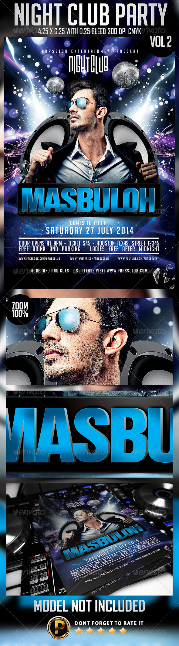 GraphicRiver Night Club Party Flyer Template Vol 2 8231756