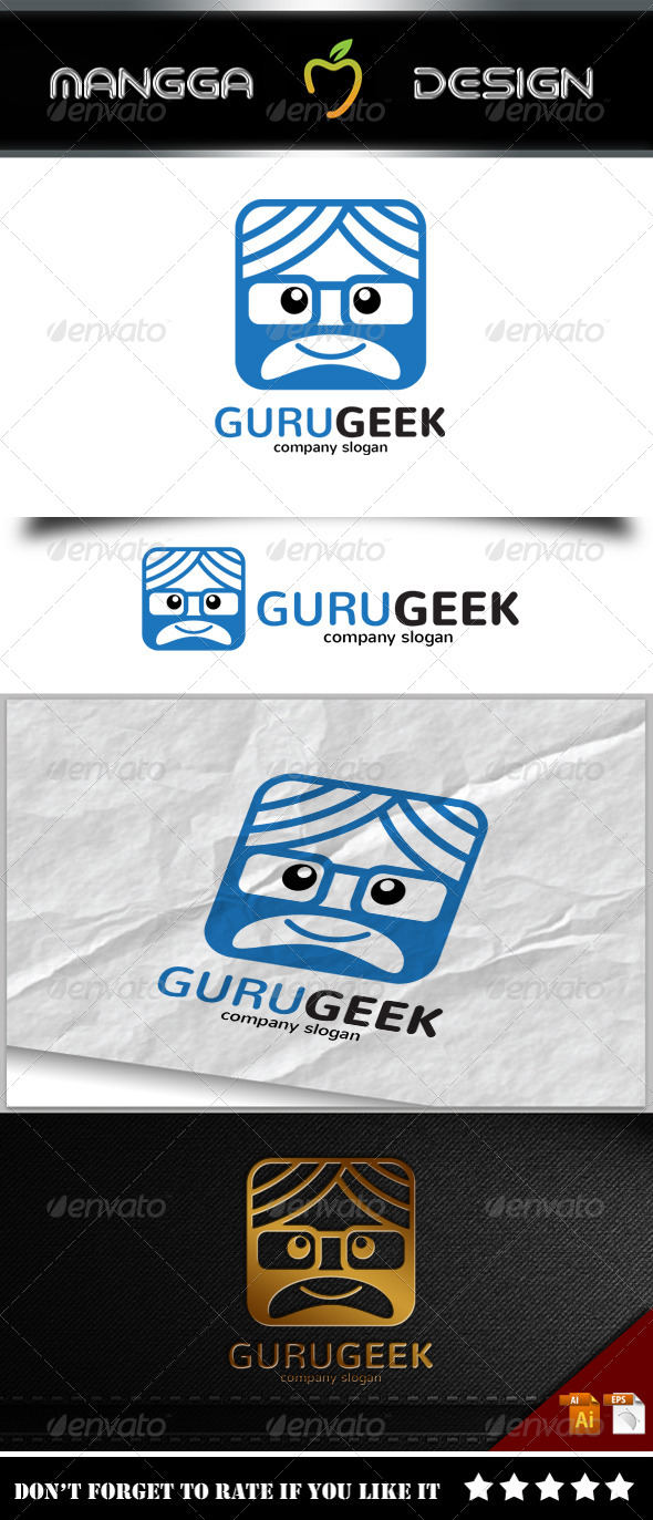 GraphicRiver Guru Geek Logo 8231940