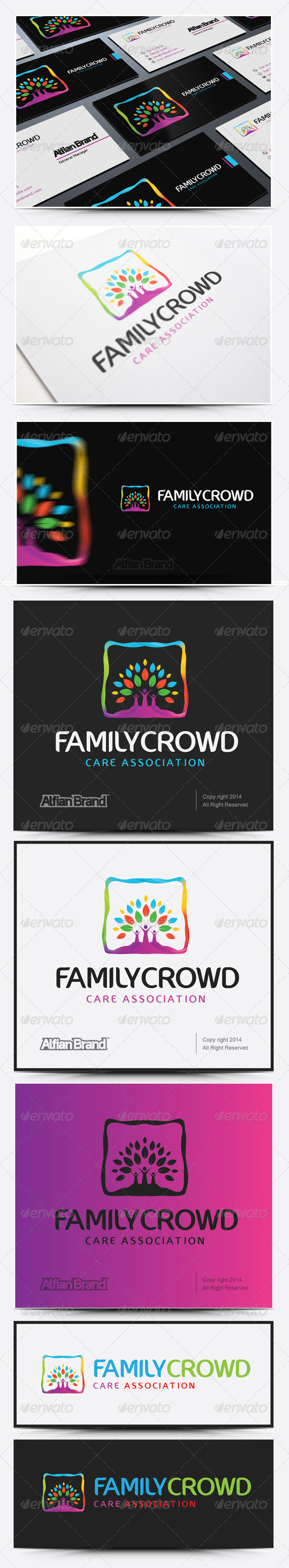 GraphicRiver Family Crowd Logo 8218876