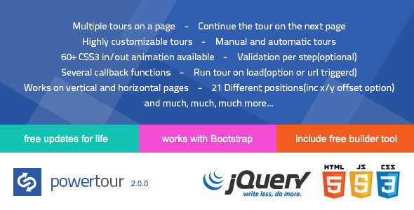 Power Tour - Powerfull creative jQuery tour plugin - CodeCanyon Item for Sale