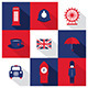 Vector London City Flat Icons With Long Shadow - GraphicRiver Item for Sale