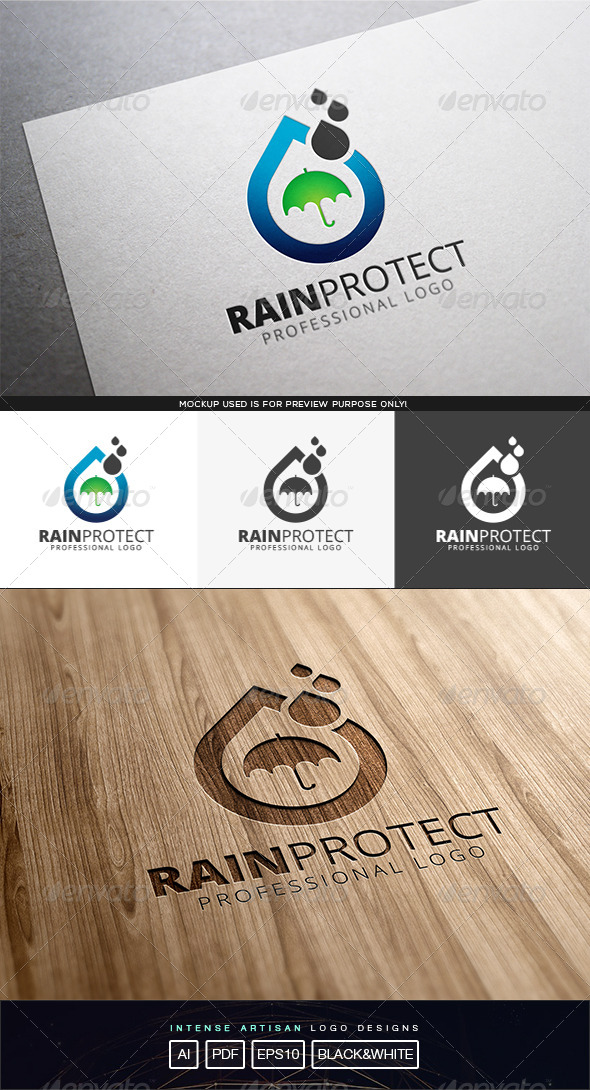 GraphicRiver Rain Protect Logo Template 8232001