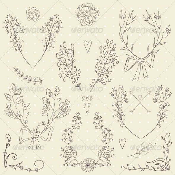 GraphicRiver Floral Design Elements 8232081