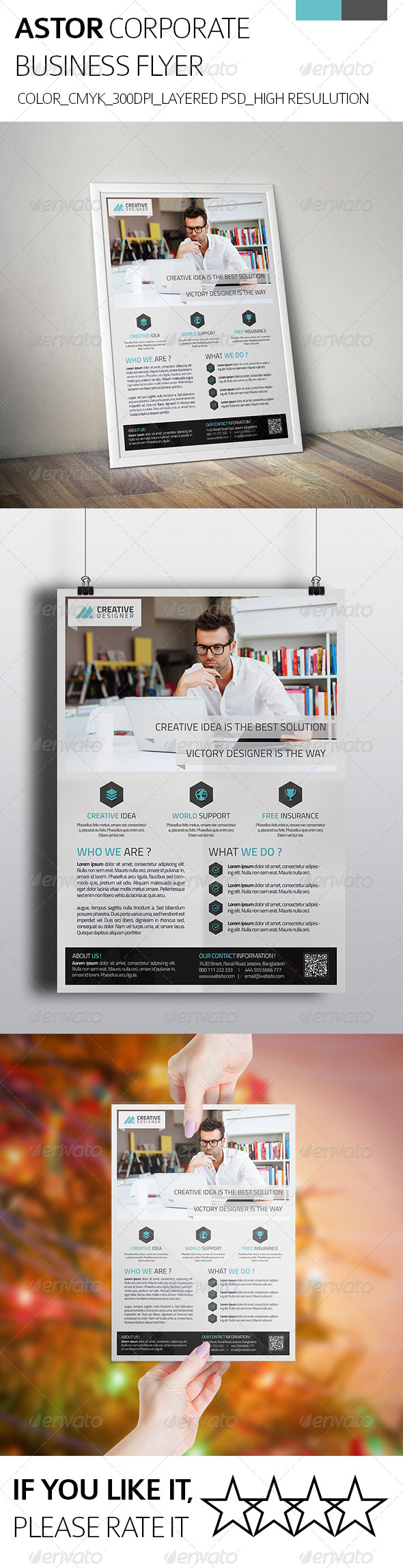 GraphicRiver Astor Corporate Business Flyer 8232104