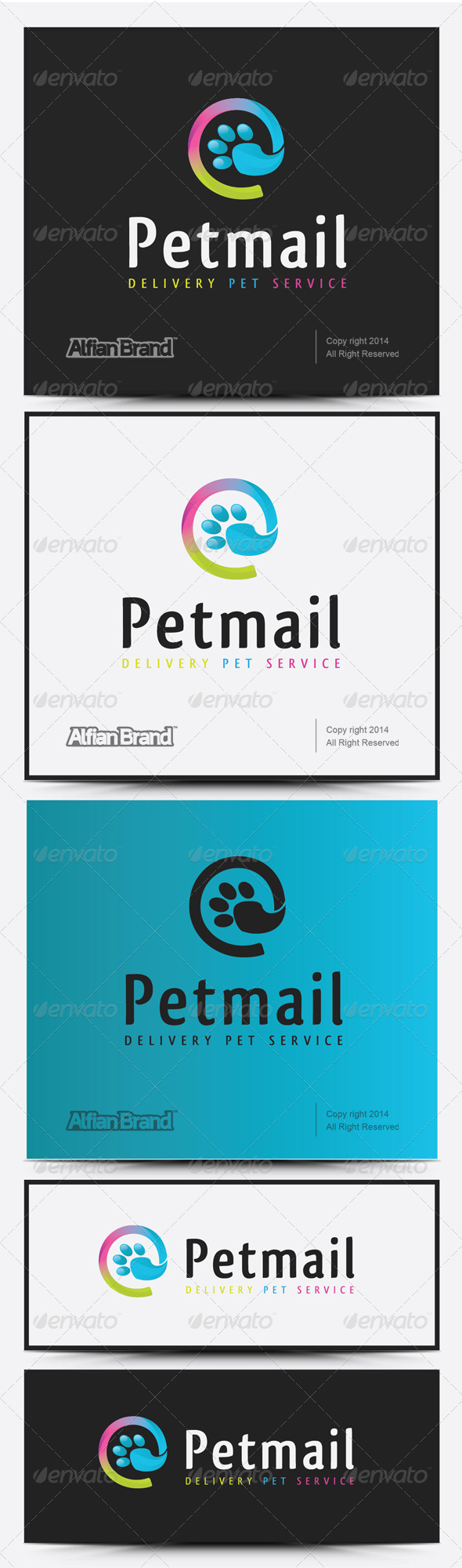 GraphicRiver Pet Mail Logo 8232121