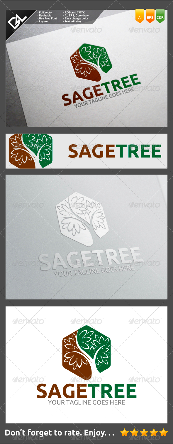 GraphicRiver Sage Tree 8232162