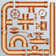 Brass Pipe Kit - GraphicRiver Item for Sale