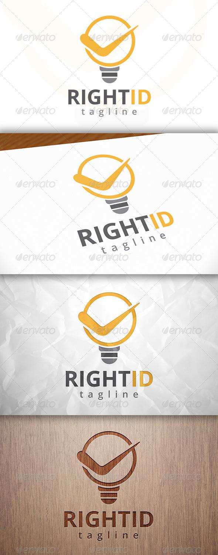 GraphicRiver Right Idea Logo 8232171