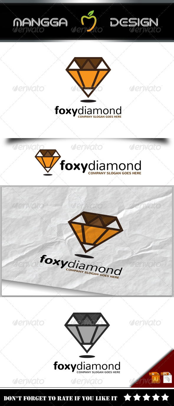 GraphicRiver Foxy Diamond Logo 8232189