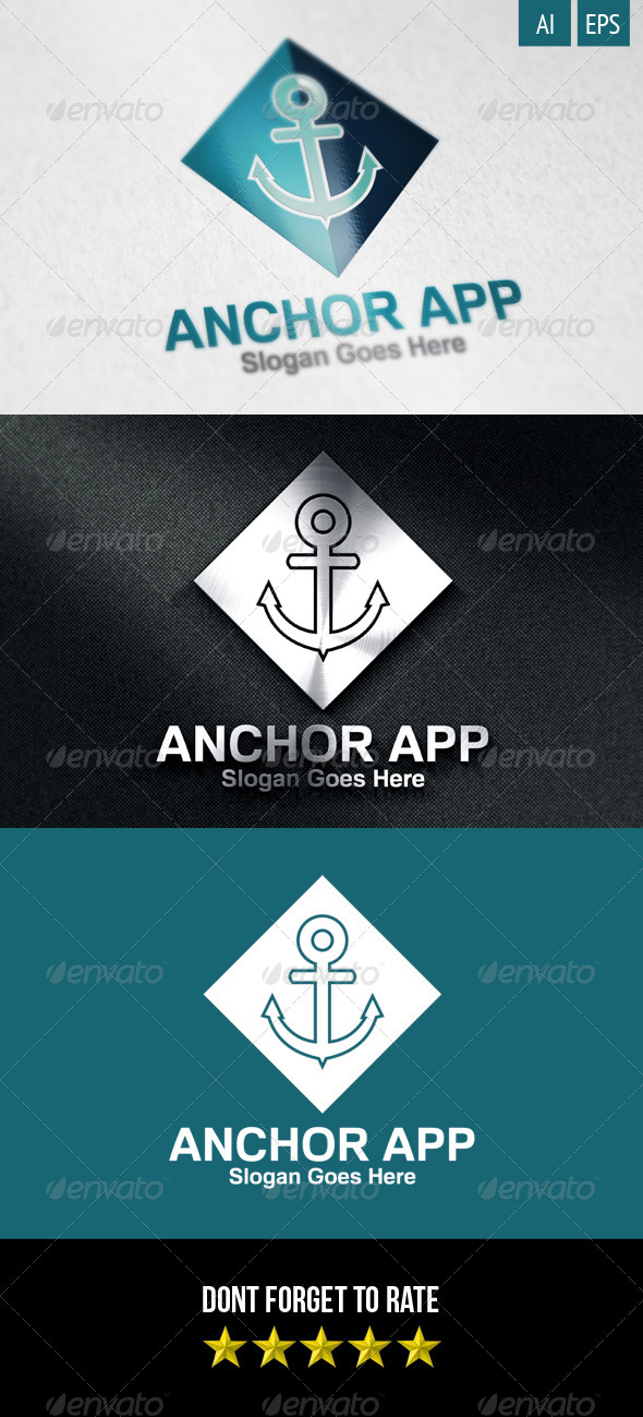 GraphicRiver Anchor App Logo 8232191
