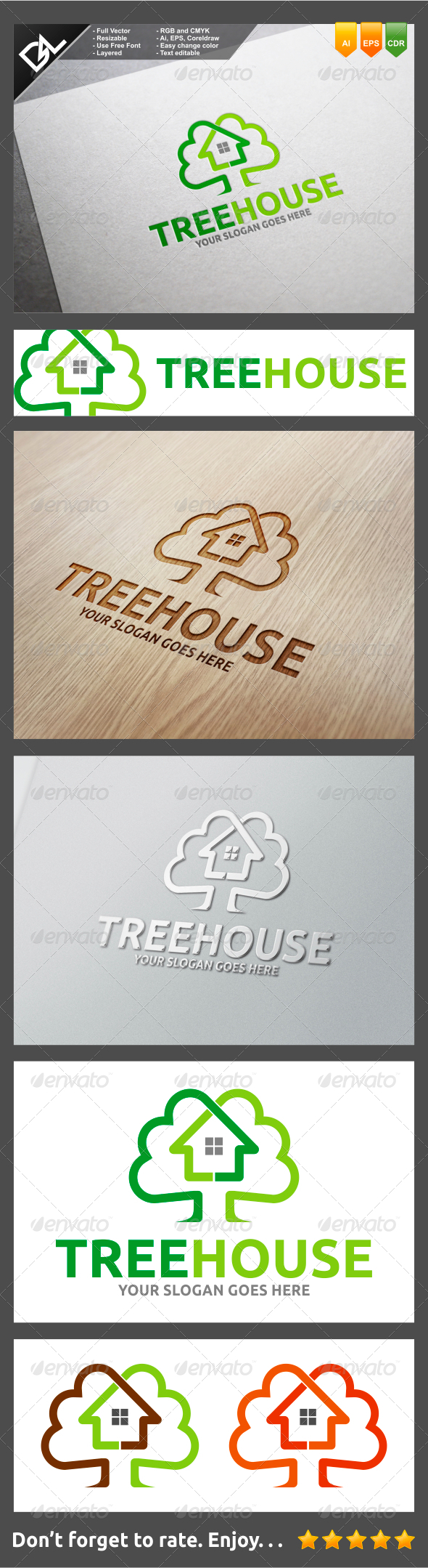 GraphicRiver Tree House 8232213