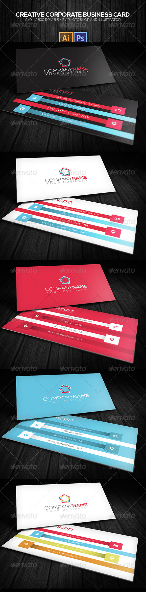 GraphicRiver Creative Corporate Business Card 8181154