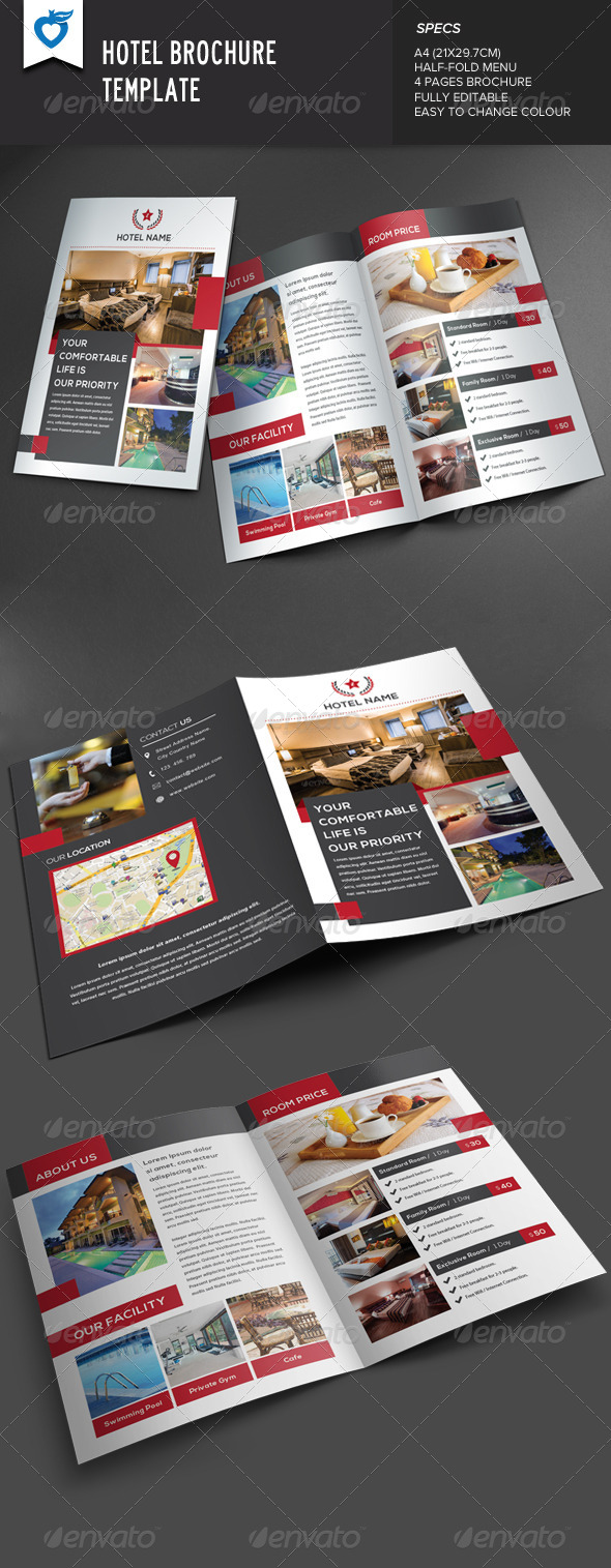 GraphicRiver Hotel Brochure 8232278