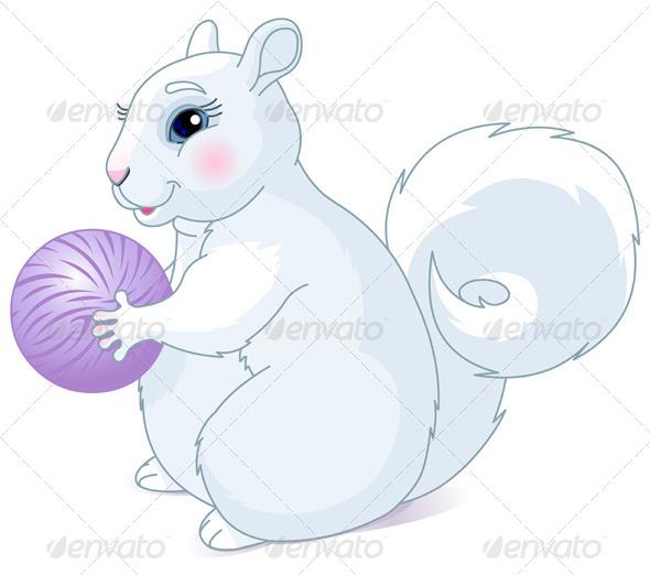 GraphicRiver White Squirrel 8232357