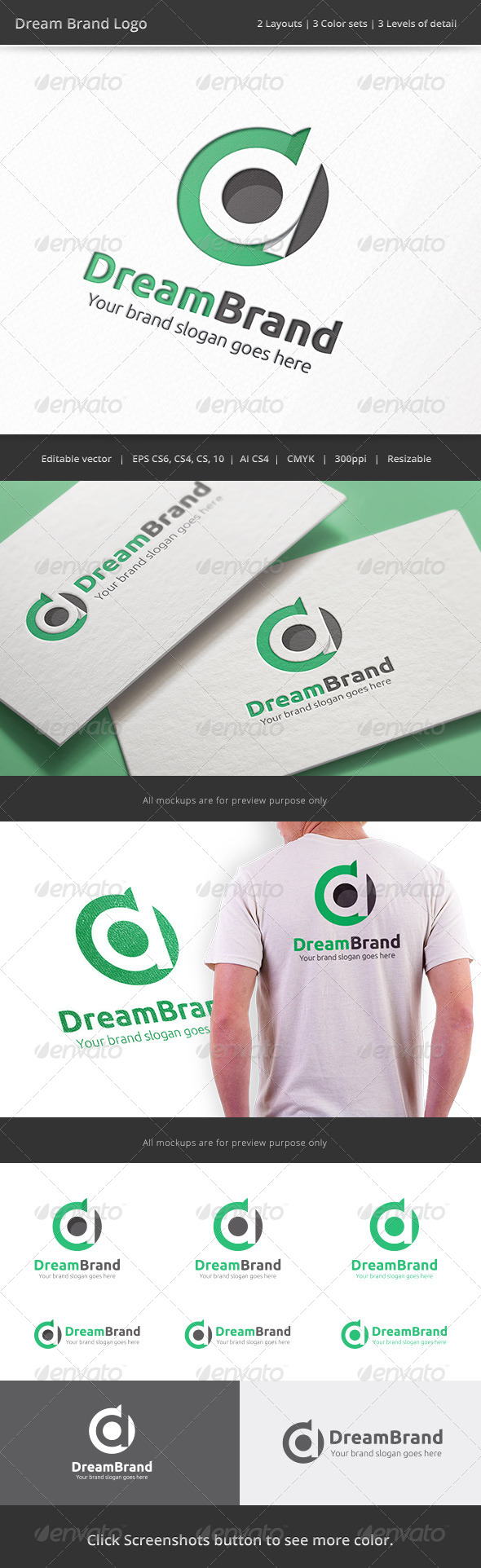 GraphicRiver Dream Brand Letter D Logo 8232469