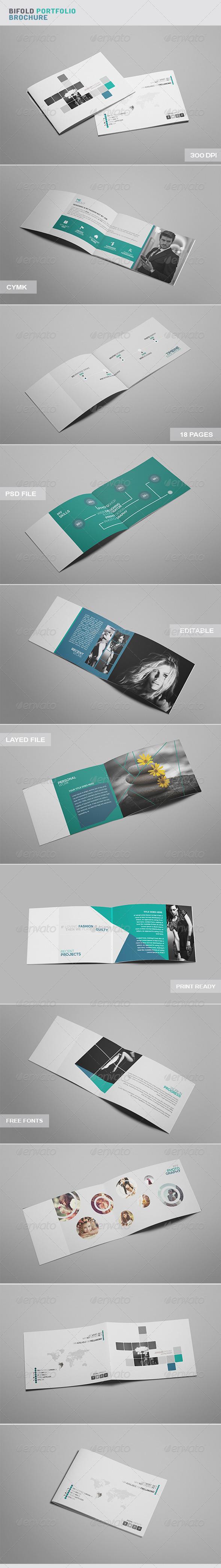 Bi Fold Portfolio Brochure