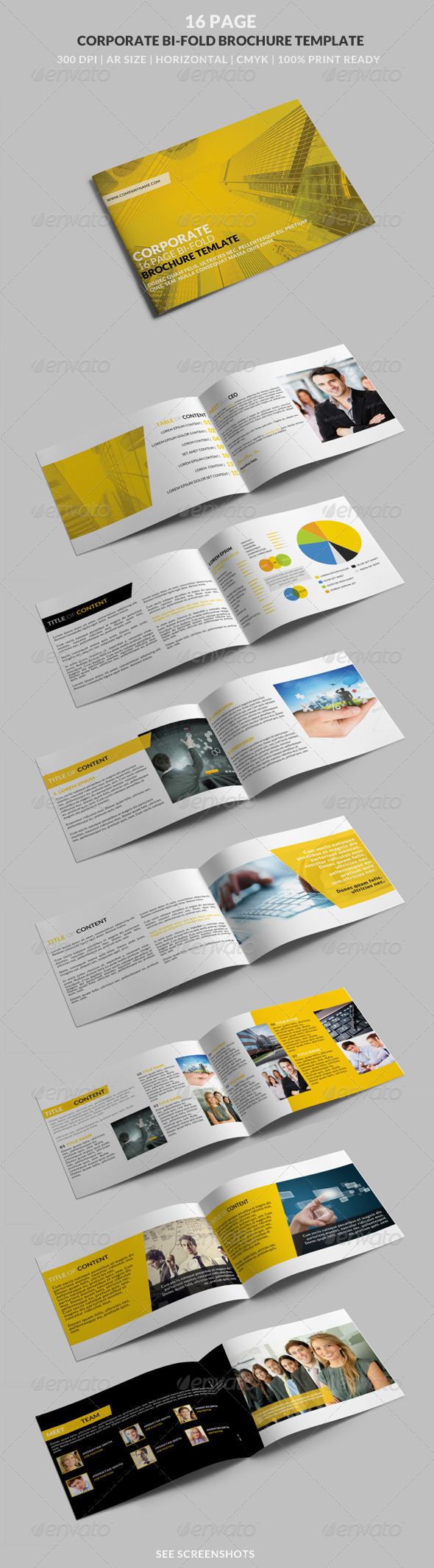 GraphicRiver 16 Page Corporate Horizontal A4 Bi-Fold Brochure 8232516