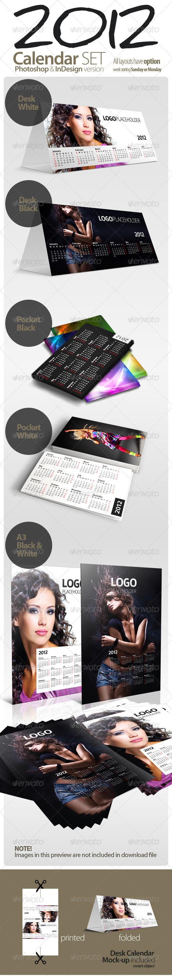 GraphicRiver 2012 Calendar SET 842015