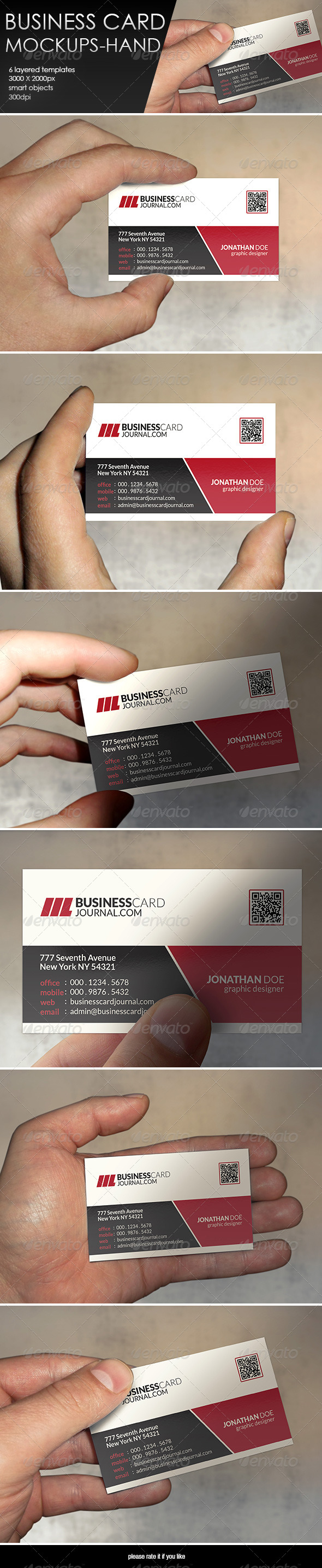 GraphicRiver Business Card MockUp-Hand 8232625