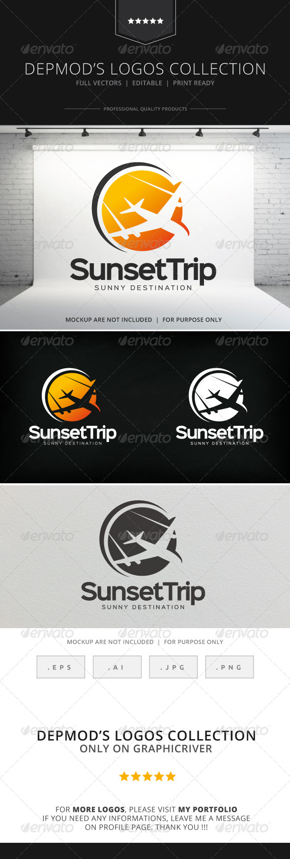 GraphicRiver Sunset Trip Logo 8232681
