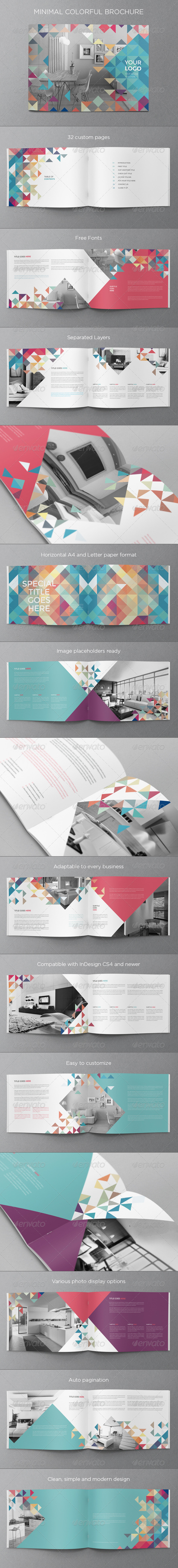 GraphicRiver Minimal Colorful Brochure 8232684