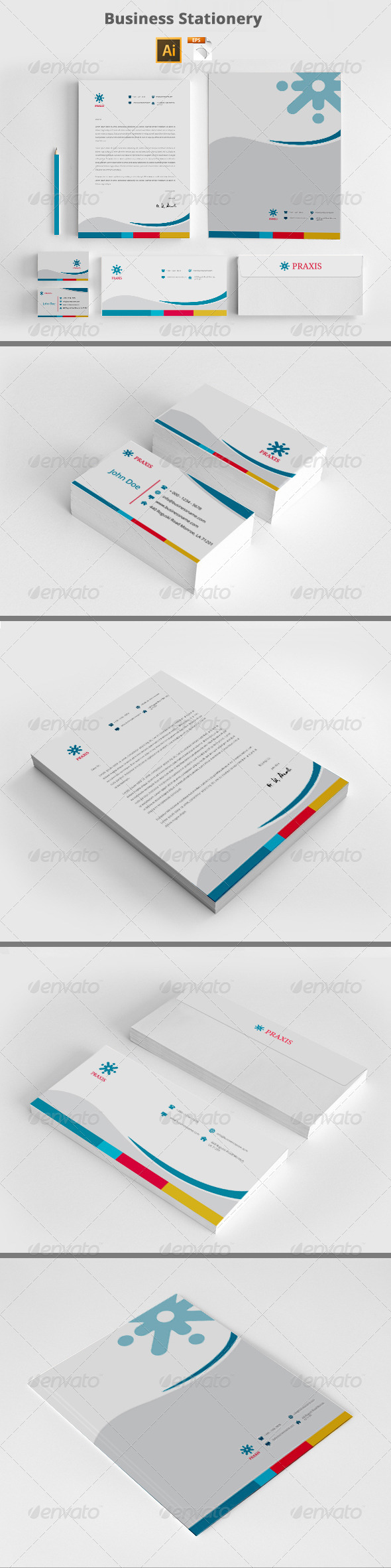 GraphicRiver Business Corporate Stationery Templates 8217438