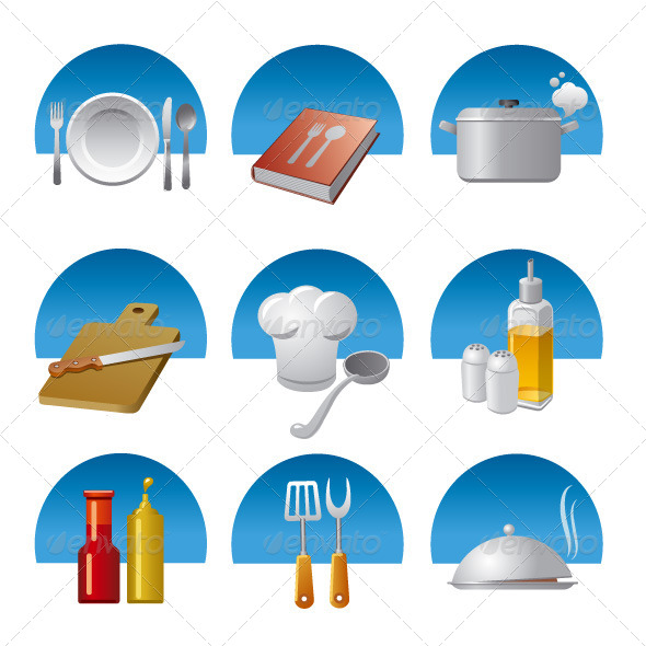 GraphicRiver Cooking Icon Set 8232690