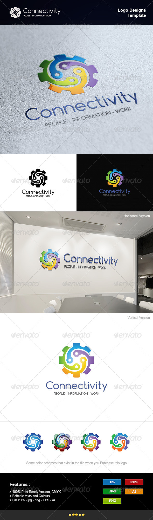 GraphicRiver Connectivity Gear 8232763