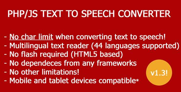 Text-To-Speech PHP JS script converter