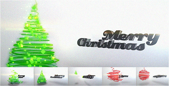 Particles Christmas Tree Video Greeting Card