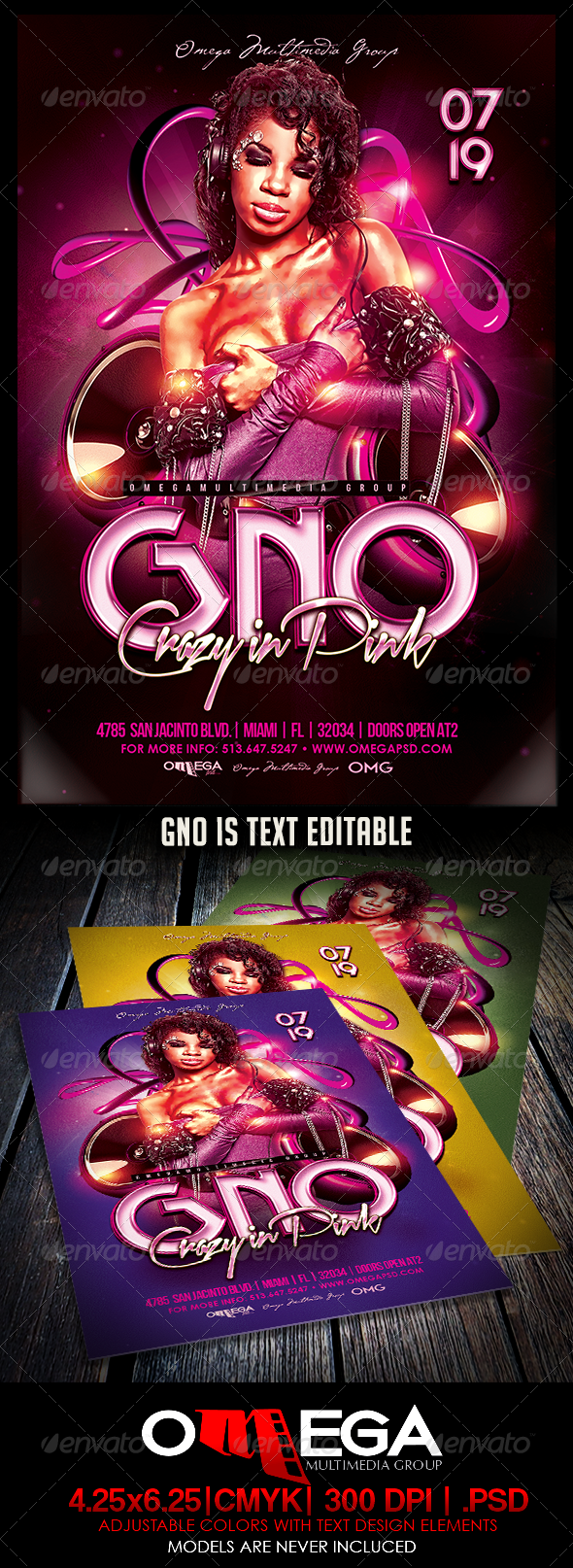 GraphicRiver GNO Crazy In Pink 8232922