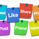 Social Media Signs On Post It - PhotoDune Item for Sale
