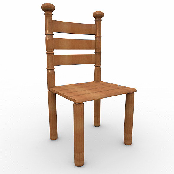 3DOcean wood chaire 8233496