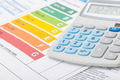 Energy efficiency chart with calculator - studio shot - PhotoDune Item for Sale