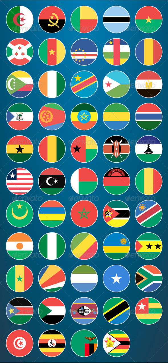 GraphicRiver Flat Flag Icons African Countries 8233809