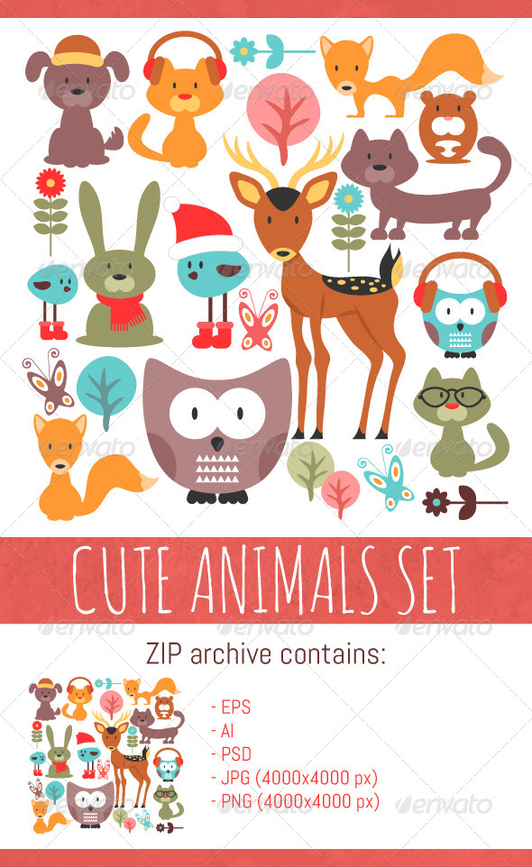 GraphicRiver Animals Set 8233907