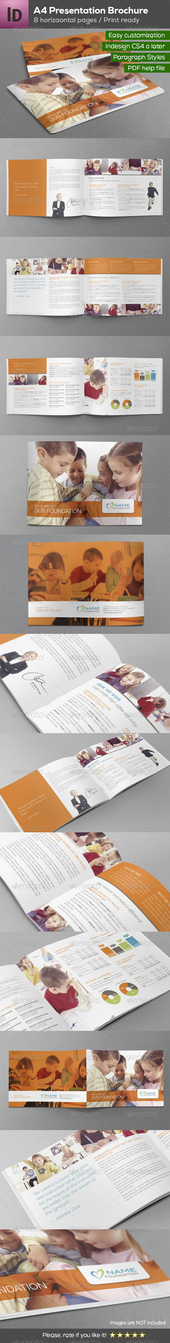 A4 Presentation Brochure 8 pages