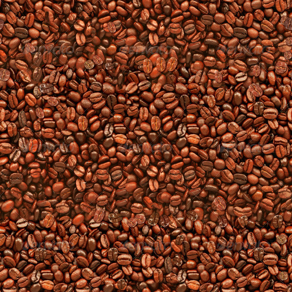 Seamless Coffee Beans Texture Background