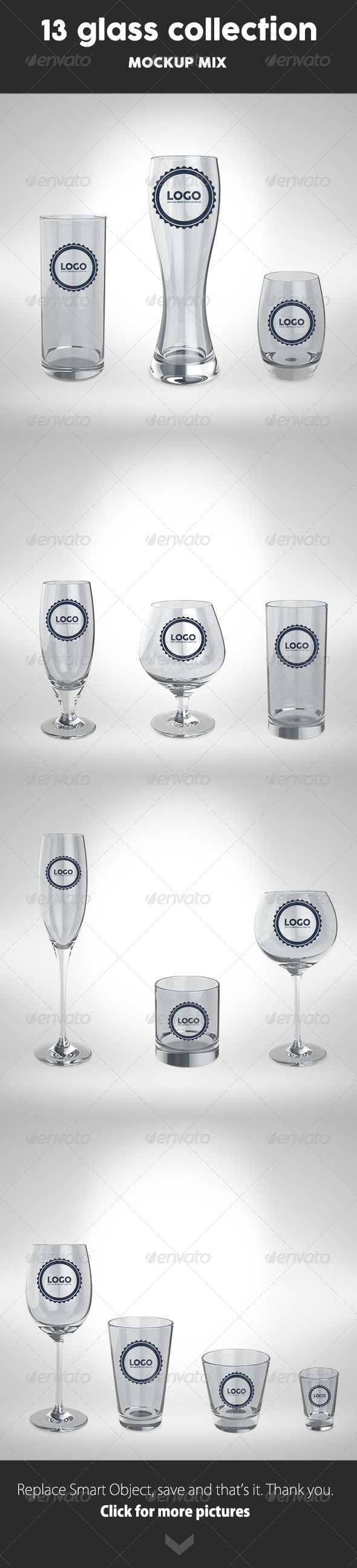 GraphicRiver 13 Glass Collection Mock Up 8234095