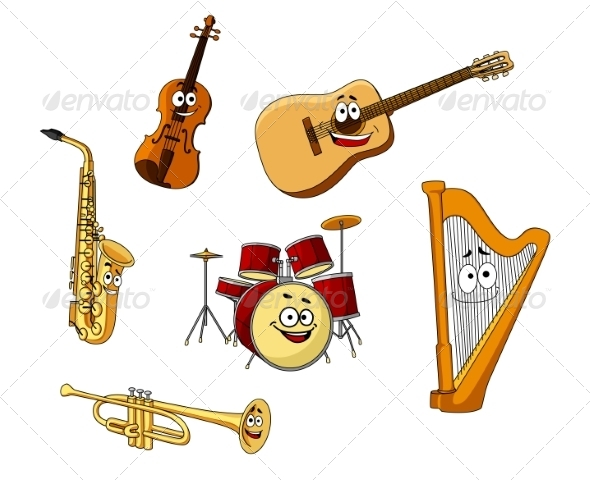 GraphicRiver Set of Classic Musical Instruments 8234101