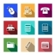 Flat Office Supply Icons - GraphicRiver Item for Sale