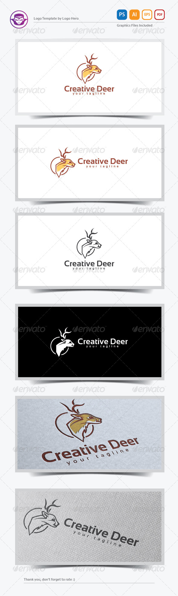 GraphicRiver Creative Deer Logo Template 8234165