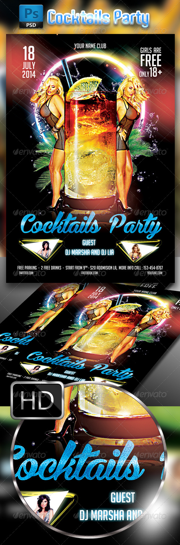 GraphicRiver Cocktail Party Flyer Template #2 8234249
