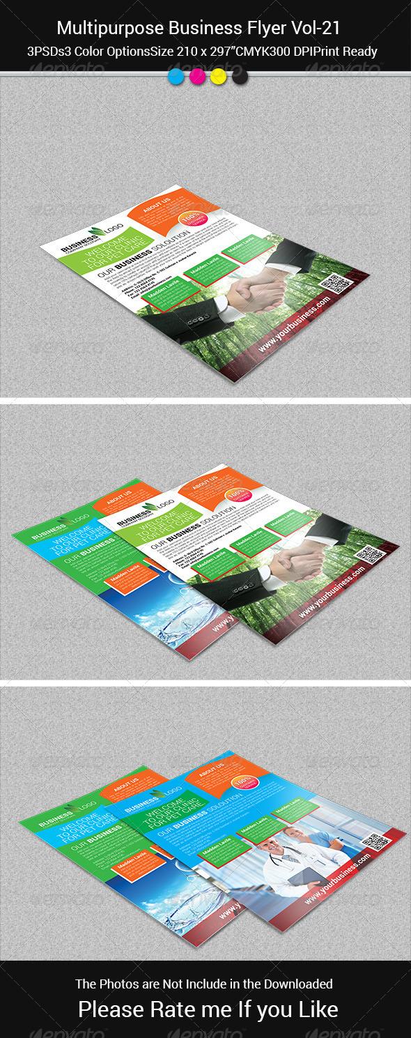 GraphicRiver Multipurpose Business Flayer Vol-21 8234272