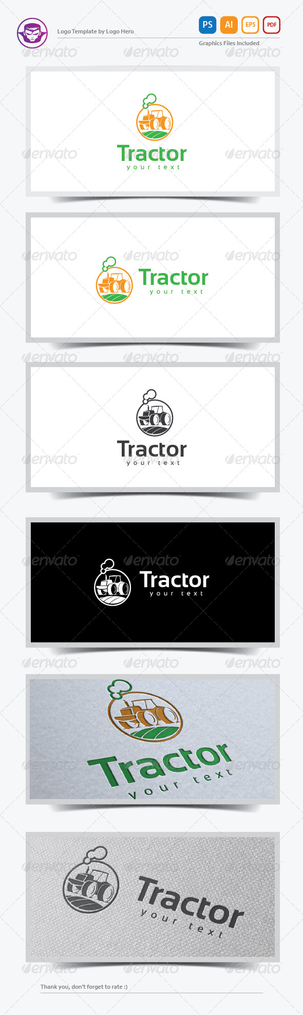 GraphicRiver Tractor Logo Template 8234279